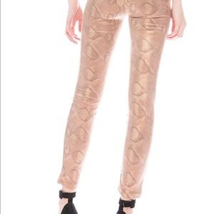 Mother high waisted Looker pant (snakeskin)
